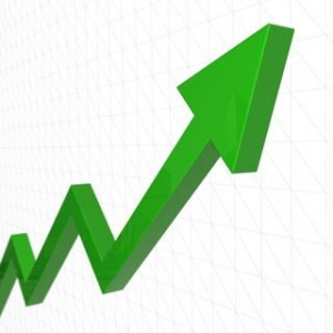 green stock arrow symbolizing growth