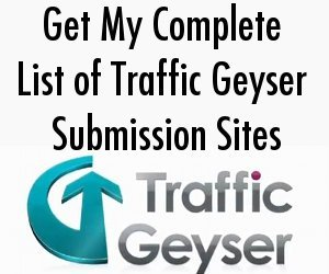 Traffic Geyser Submission Sites